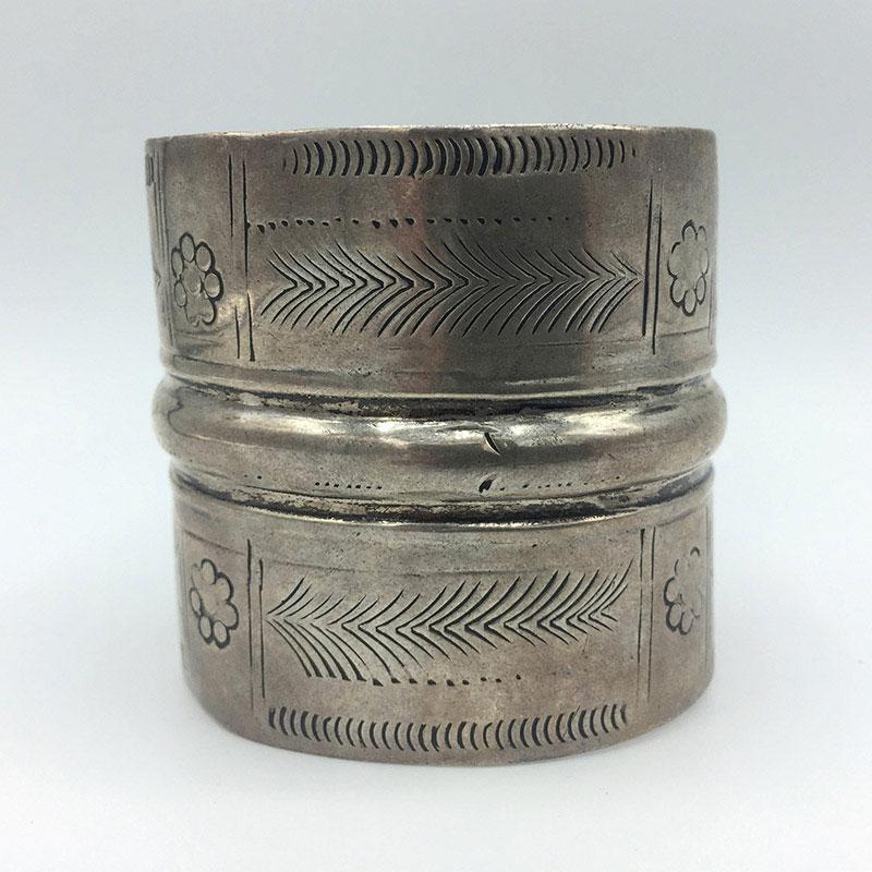Antique Silver Bedouin Cuff Bracelet